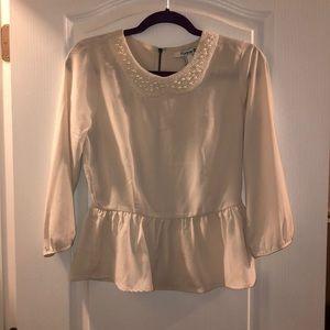 F21 Pearl retail peplum blouse